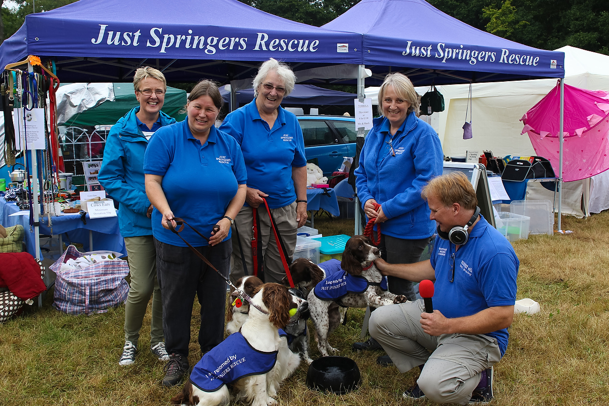 Neil Munday with the Just Springer Rescue team