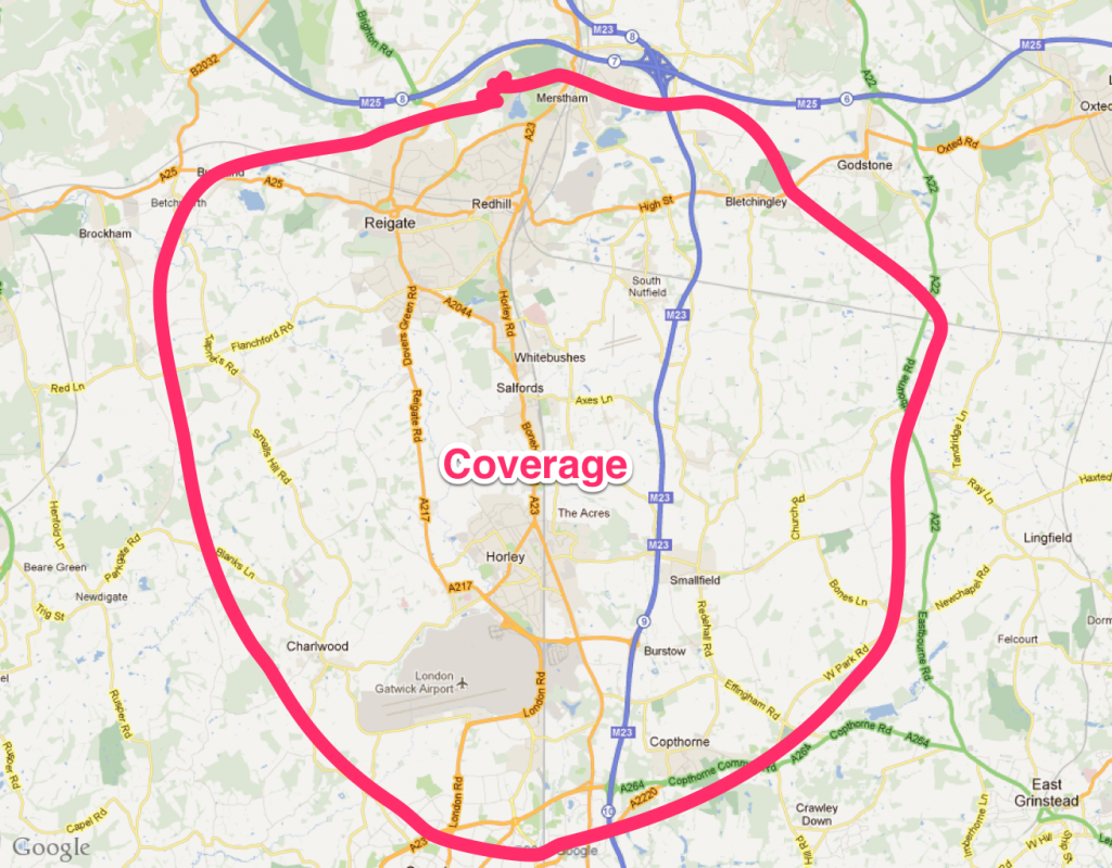 Susy Coverage Map