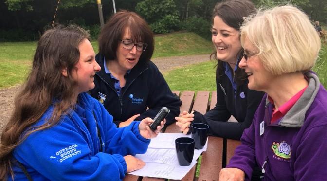 Natalie Osborne and guide leaders
