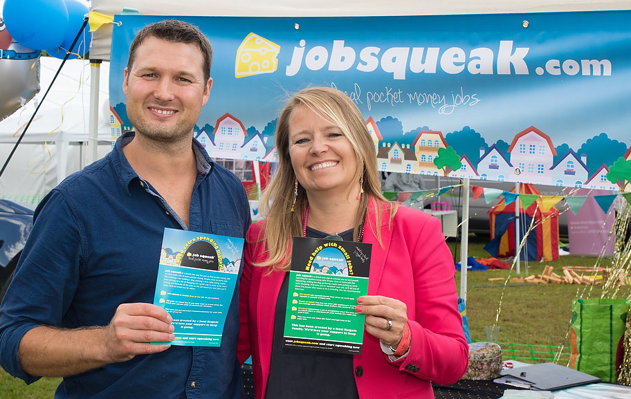 Picture shows: Alistair Bendyshe-Brown and wife Nicky promoting jobsqueak.com.