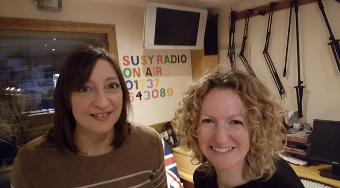 Annie Whitmore and Vicky Woodall in the Susy Radio studio