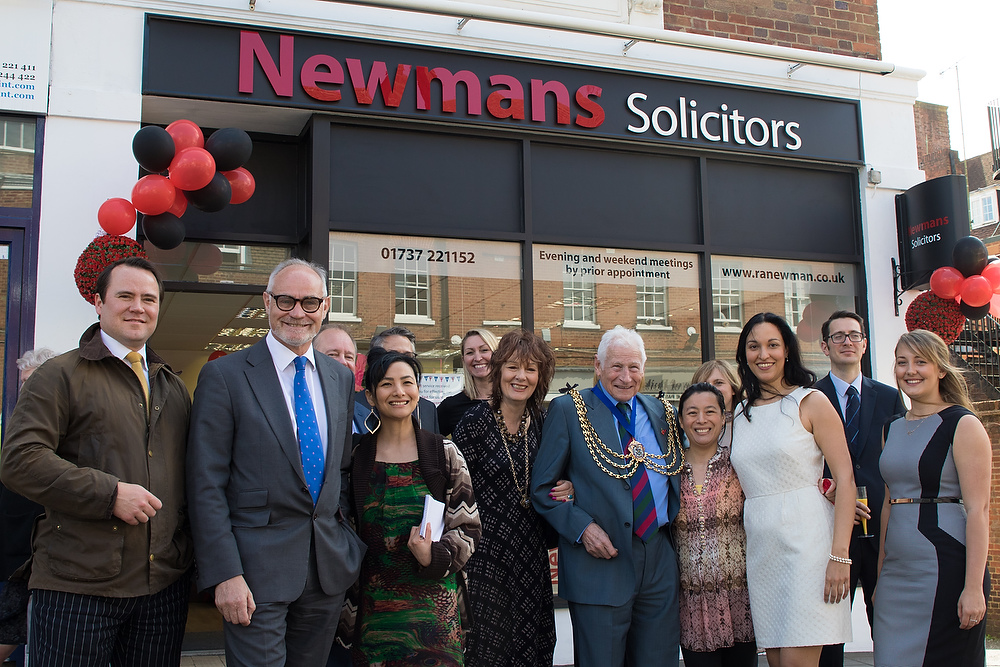 Staff and guests outside Newmans in Reigate