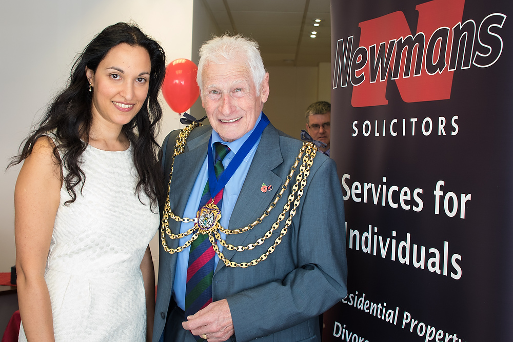 Saira Babar of Newmans Solicitors with the Mayor of Reigate & Banstead, Cllr David Powell