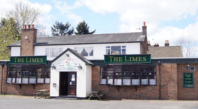 outside of the limes pub in Merstham