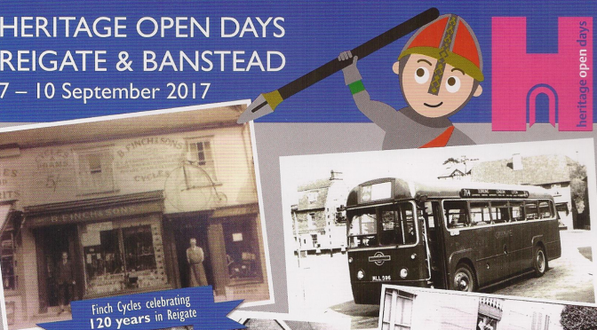 Reigate Heritage Open Days flyer