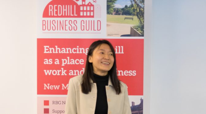 Sumi Wang speaks at Redhill Business Guild breakfast meeting