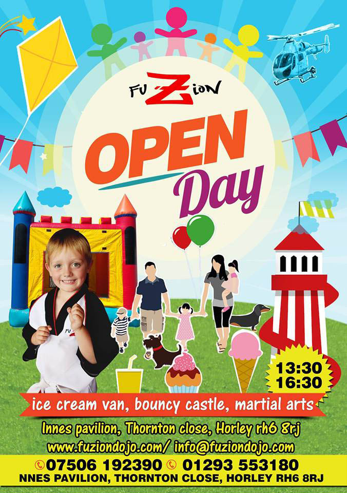 Fusion Martial arts open day poster