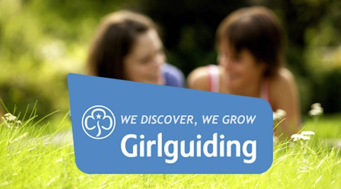 Girl guides logo with summer style background