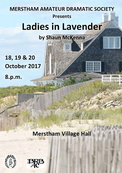 front cover of ladies in lavender programme