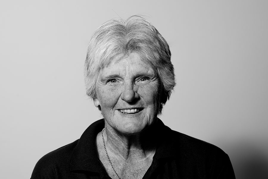 black and white image of Tricia Whyte