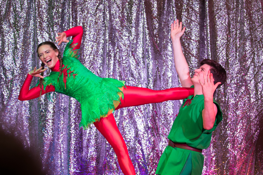 Dancers in elf costumes