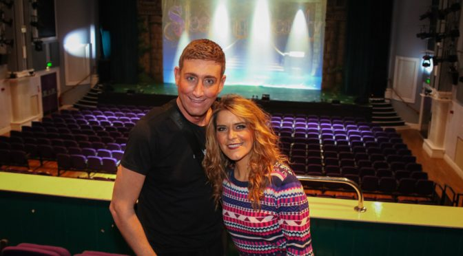 Dorking Halls Panto Cast - Christopher Maloney and Gemma Oaten