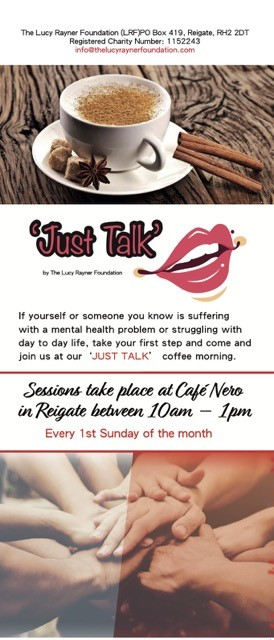 Just Talk poster for Lucy Rayner Foundation