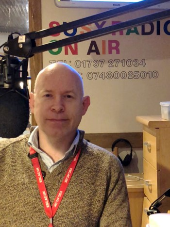 Richard Brooks in susy radio studio for interview