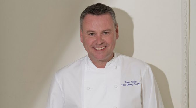 celebrity chef Tony Tobin smiling to camera