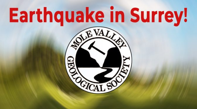 mole Valley Geological Society logo on blurred background