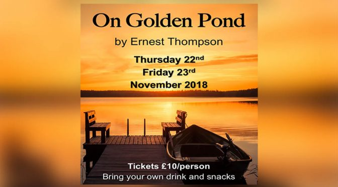 On Golden Pond theatre flyer