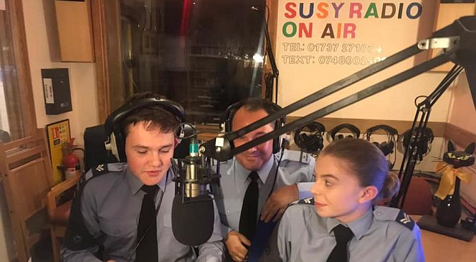 XIX Squadron Crawley Air Cadets on fundraising mission