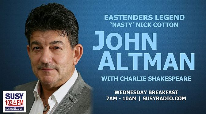 Charlie Shakespeare meets John Altman AKA 'Nick Cotton'