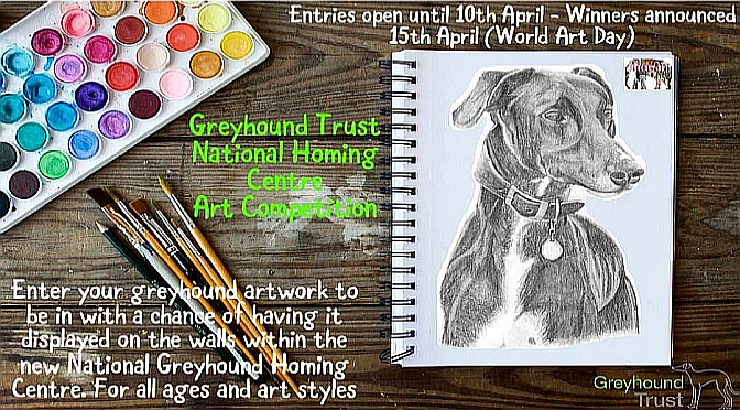 Entries invited to 'Greyhound Trust' Art Competition